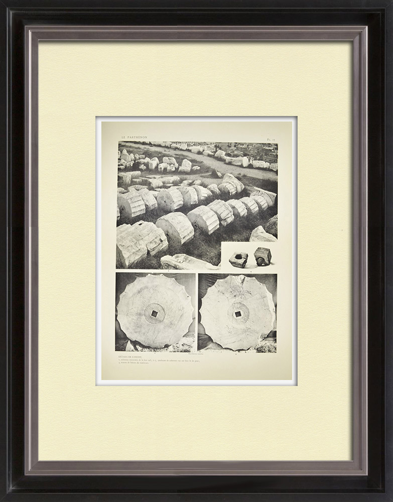Antique Prints & Drawings | View of the Parthenon - Columns - Order (Greece) | Heliogravure | 1912