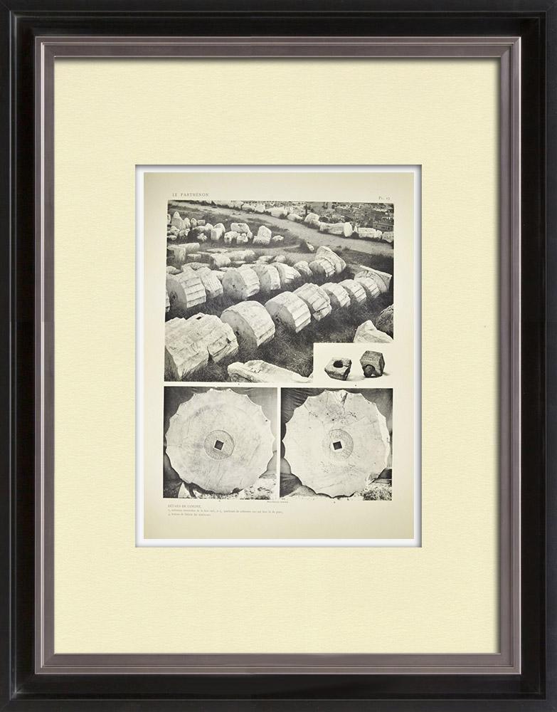Gravuras Antigas & Desenhos | Vista do Parthenon - Colunas - Ordem (Grécia) | Heliogravura | 1912
