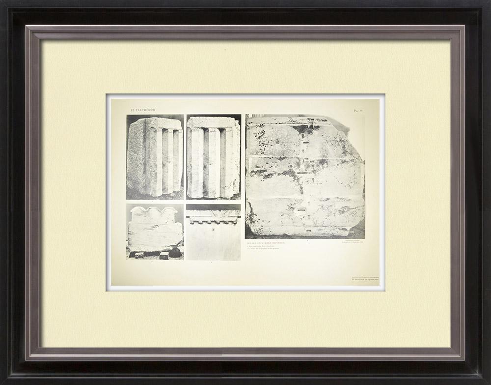 Antique Print & Etching | Ansicht von den Parthenon - Kapitelle - Ordnung (Griechenland) | Heliogravüre | 1912