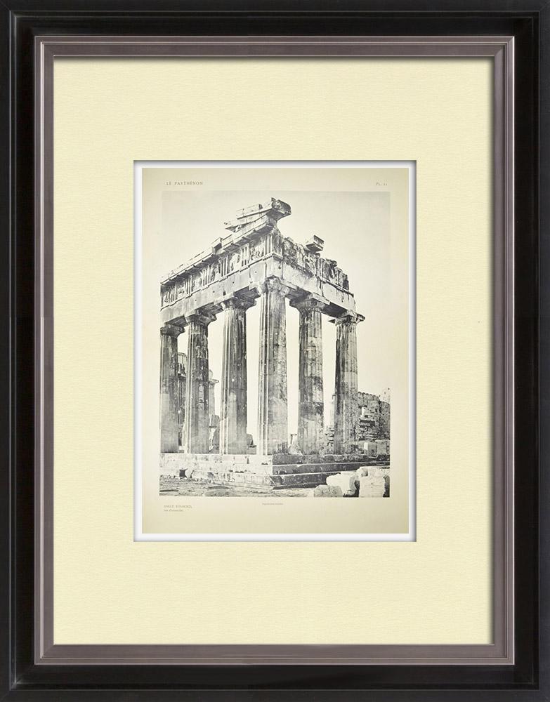 Stampe Antiche & Disegni | Veduta delle Partenone, angolo est-nord (Grecia) | Heliogravure | 1912