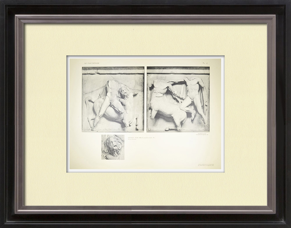 Antique Prints & Drawings | Metopes of the Parthenon - Centaur (Greece) | Heliogravure | 1912