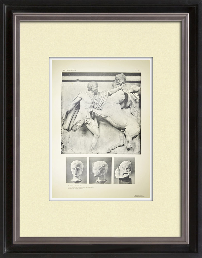 Antique Prints & Drawings | Metopes of the Parthenon - Centaur - Heads (Greece) | Heliogravure | 1912