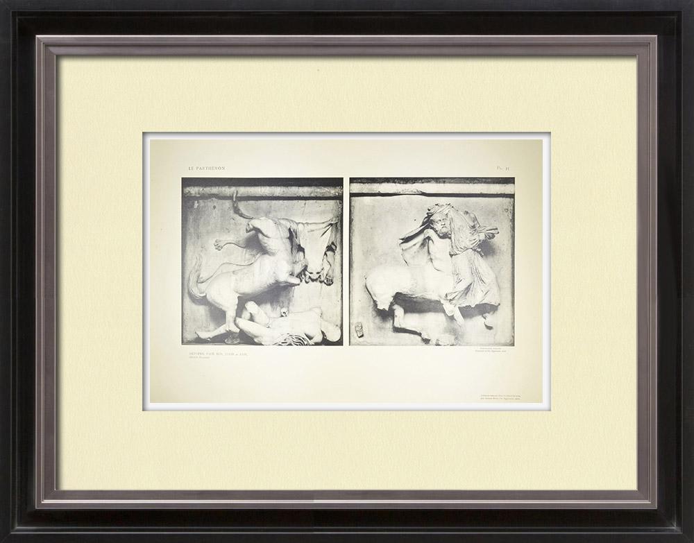 Antique Print & Etching | Parthenonmetope - Kentaur (Griechenland) | Heliogravüre | 1912