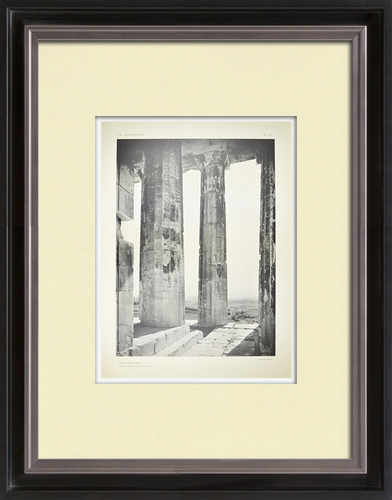 Antique Prints & Drawings | View of the Parthenon, northwest angle (Greece) | Heliogravure | 1912