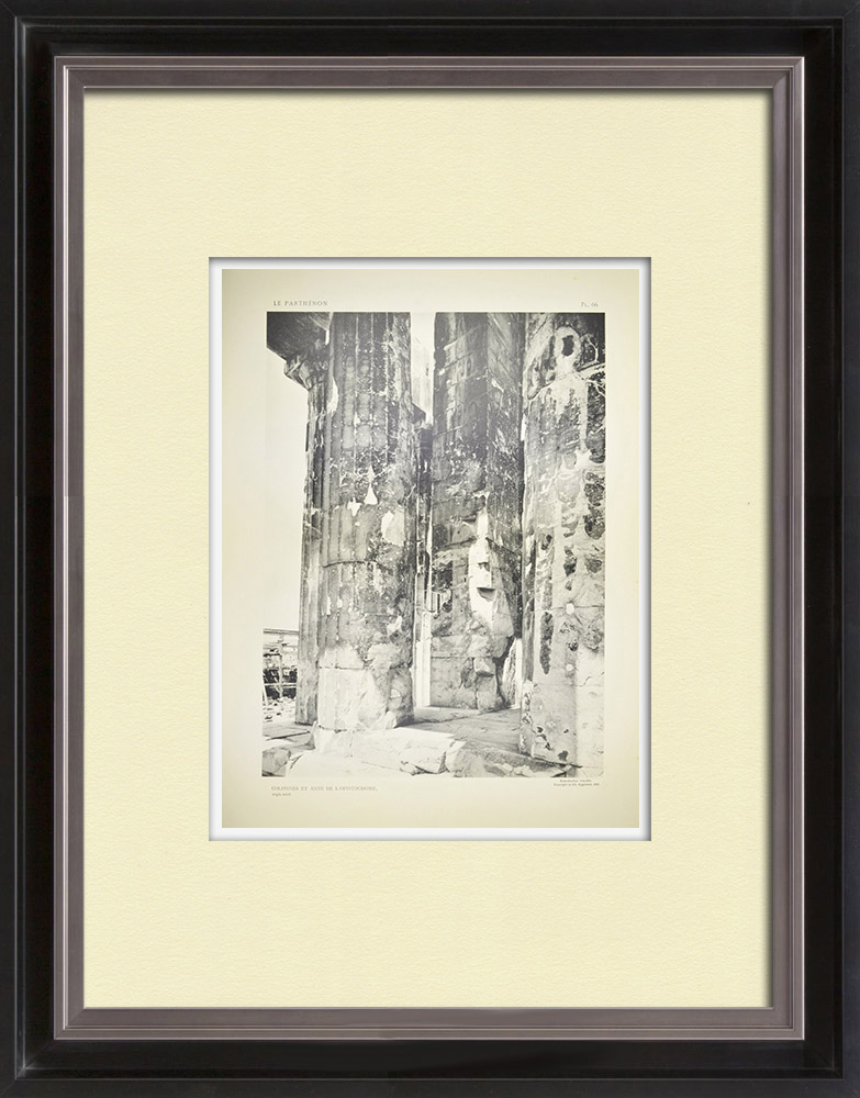 Antique Prints & Drawings | View of the Parthenon - Columns of Opisthodomos (Greece)  | Heliogravure | 1912