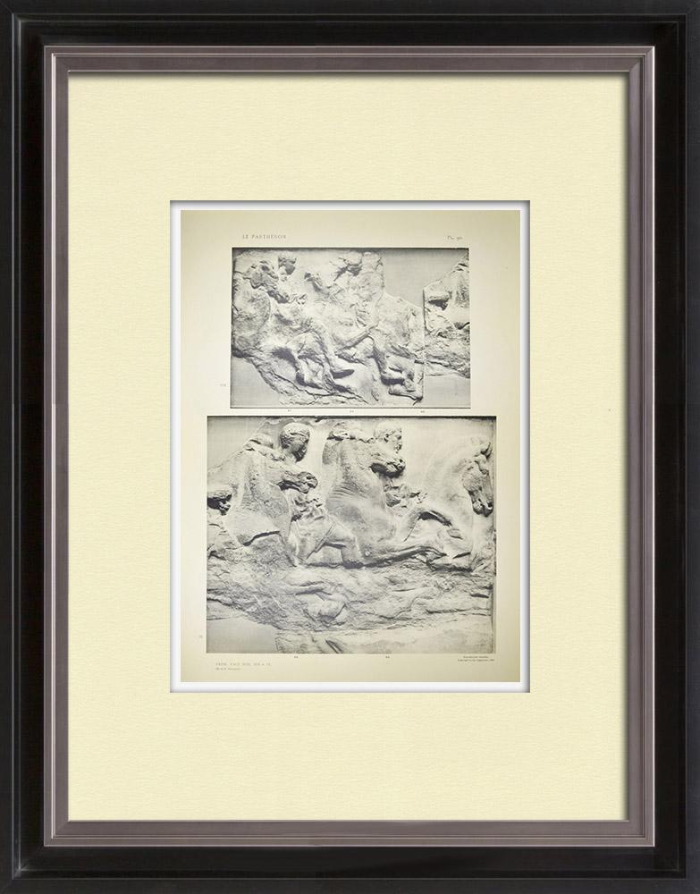 Antique Print & Etching | Parthenon - Ionenfries von Cella - Südlich Seite - Pl. 90 | Heliogravüre | 1912
