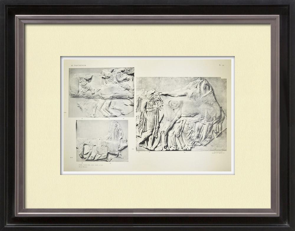Antique Prints & Drawings | Parthenon - Ionic frieze of Cella - South side - Pl. 95 | Heliogravure | 1912