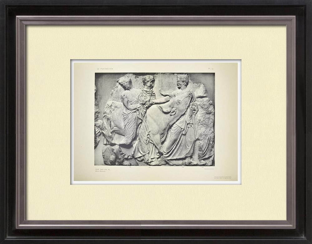 Antique Print & Etching | Parthenon - Ionenfries von Cella - Südlich Seite - Pl. 99 | Heliogravüre | 1912