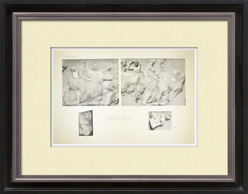 Stampe Antiche & Disegni | Partenone - Fregio ionico della Cella - Lato sud - Pl. 100 | Heliogravure | 1912