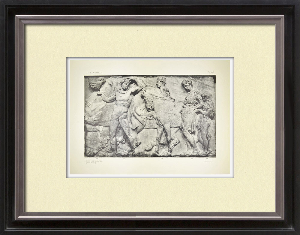 Antique Print & Etching | Parthenon - Ionenfries von Cella - Nord Seite - Pl. 103 | Heliogravüre | 1912