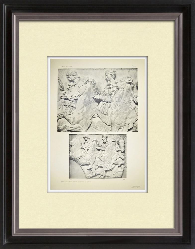 Antika Tryck & Ritningar | Parthenon - Ionisk fris i Cella - Norra sidan - Pl. 105 | Heliogravyr | 1912