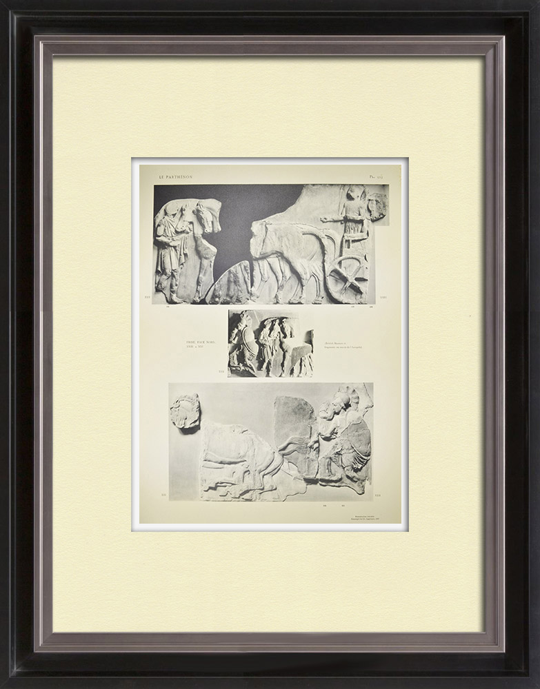 Antique Prints & Drawings | Parthenon - Ionic frieze of Cella - North side - Pl. 112 | Heliogravure | 1912