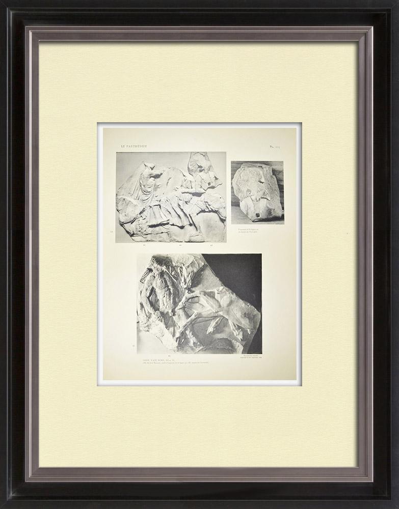 Antique Print & Etching | Parthenon - Ionenfries von Cella - Nord Seite - Pl. 115 | Heliogravüre | 1912