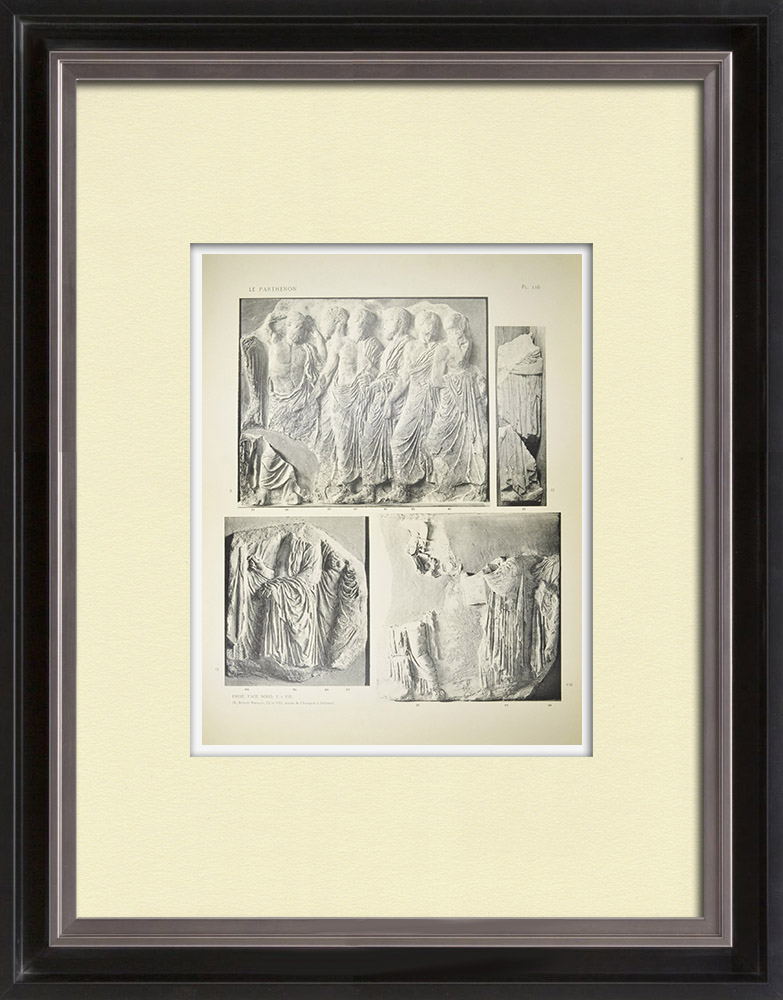 Antique Prints & Drawings | Parthenon - Ionic frieze of Cella - North side - Pl. 116 | Heliogravure | 1912