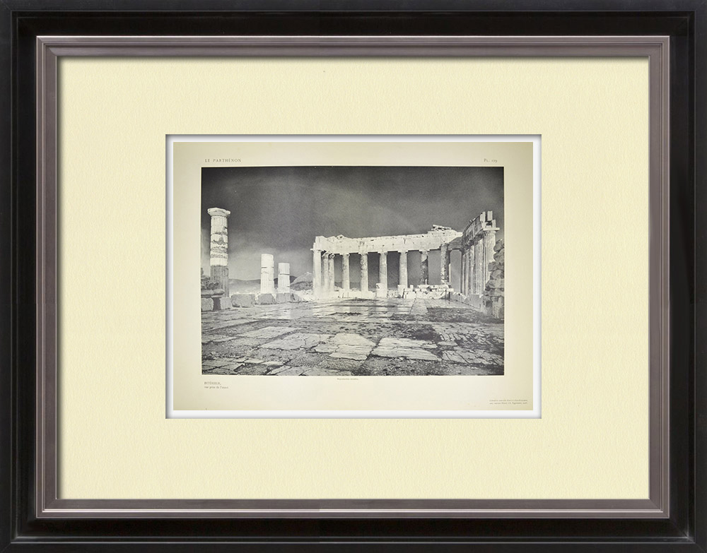 Antique Prints & Drawings | Parthenon - Interior - Prospect from the west - Pl. 129 | Heliogravure | 1912