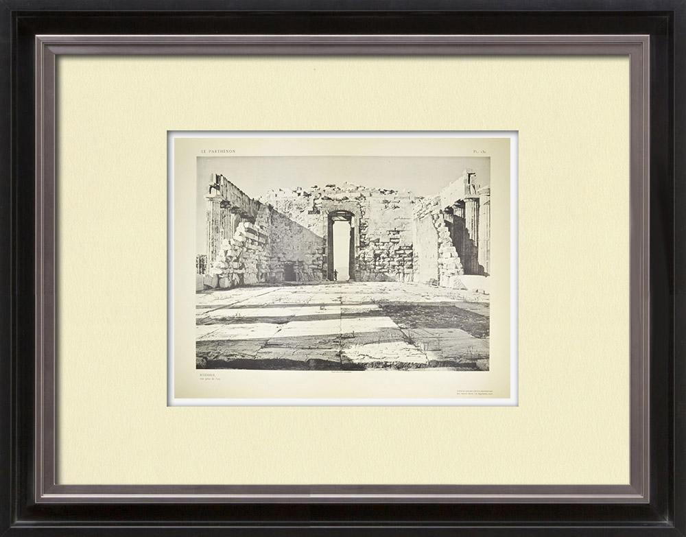 Stampe Antiche & Disegni | Partenone - Interno - Vista presa di est - Pl. 130 | Heliogravure | 1912