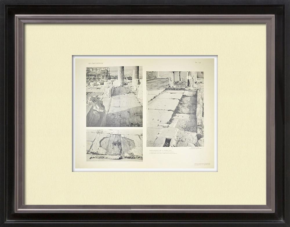 Antique Print & Etching   Parthenon - Innere - Ostentor - Pl. 132   Heliogravüre   1912