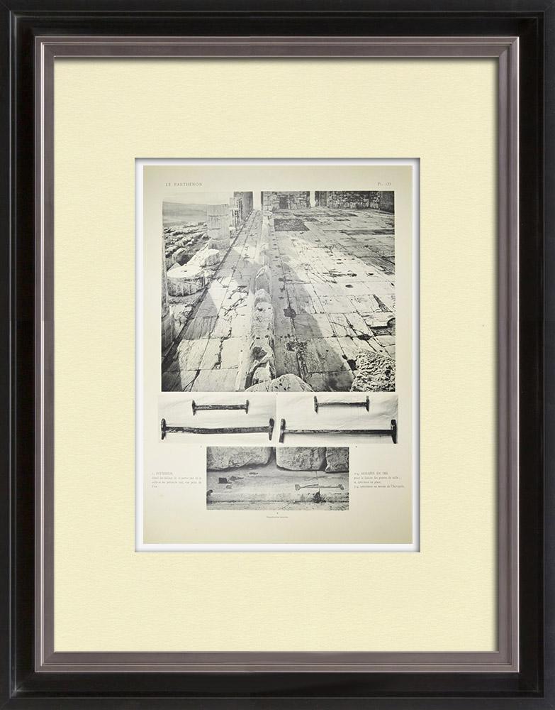 Antique Print & Etching | Parthenon - Innere - Pl. 133 | Heliogravüre | 1912