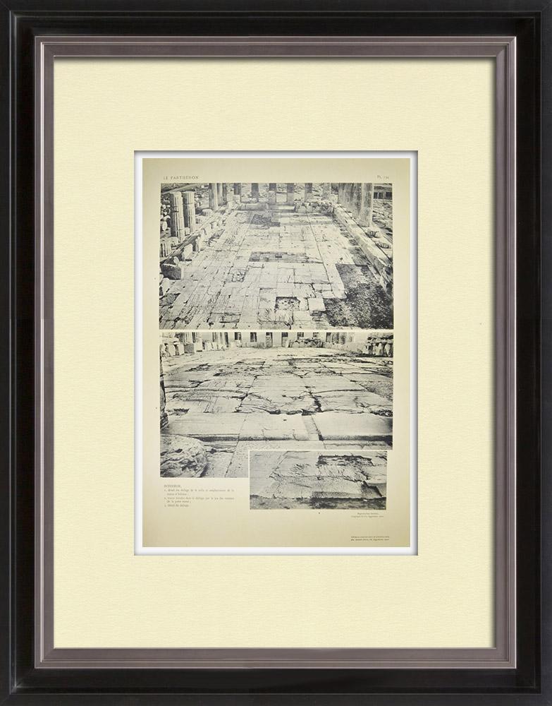 Antika Tryck & Ritningar | Parthenon - Interiör - Pl. 134 | Heliogravyr | 1912