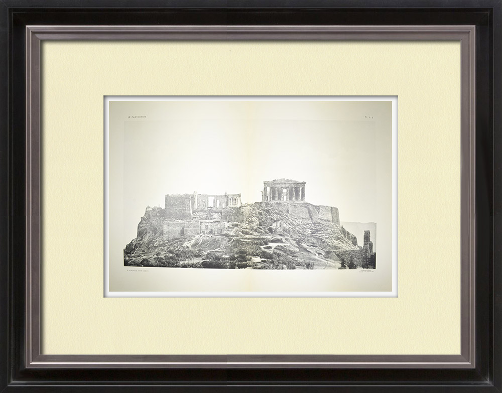 Antique Print & Etching | Akropolis in Athen - Westseite - Pl. 2-3 | Heliogravüre | 1912