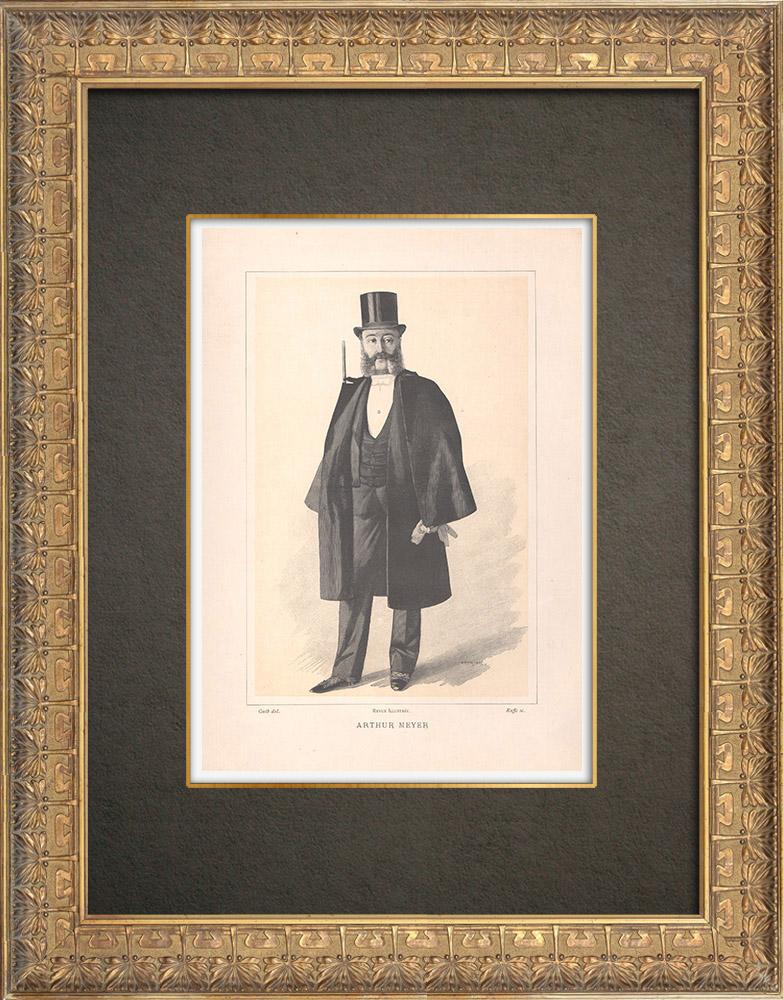 Gravures Anciennes & Dessins | Portrait de Arthur Meyer (1844-1924) | Typogravure | 1890
