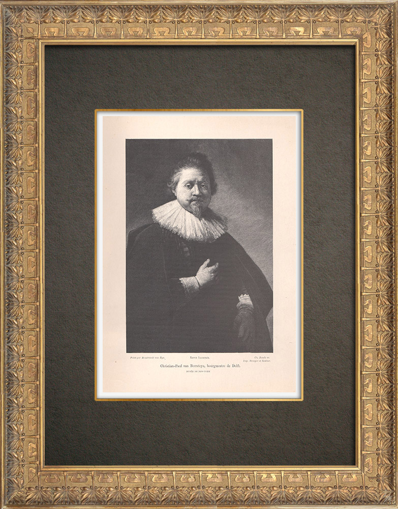 Gravures Anciennes & Dessins | Portrait de Paulus van Beresteyn (1582-1666) | Typogravure | 1890