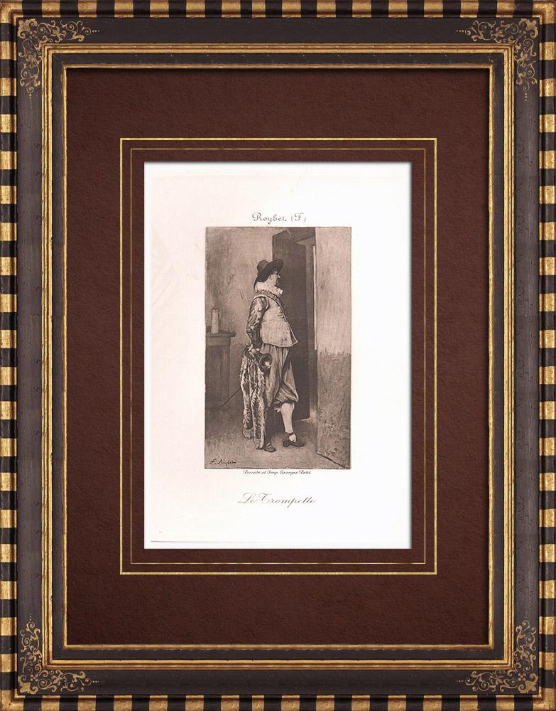 Gravures Anciennes & Dessins   Le Trompettiste (Roybet)   Héliogravure   1890