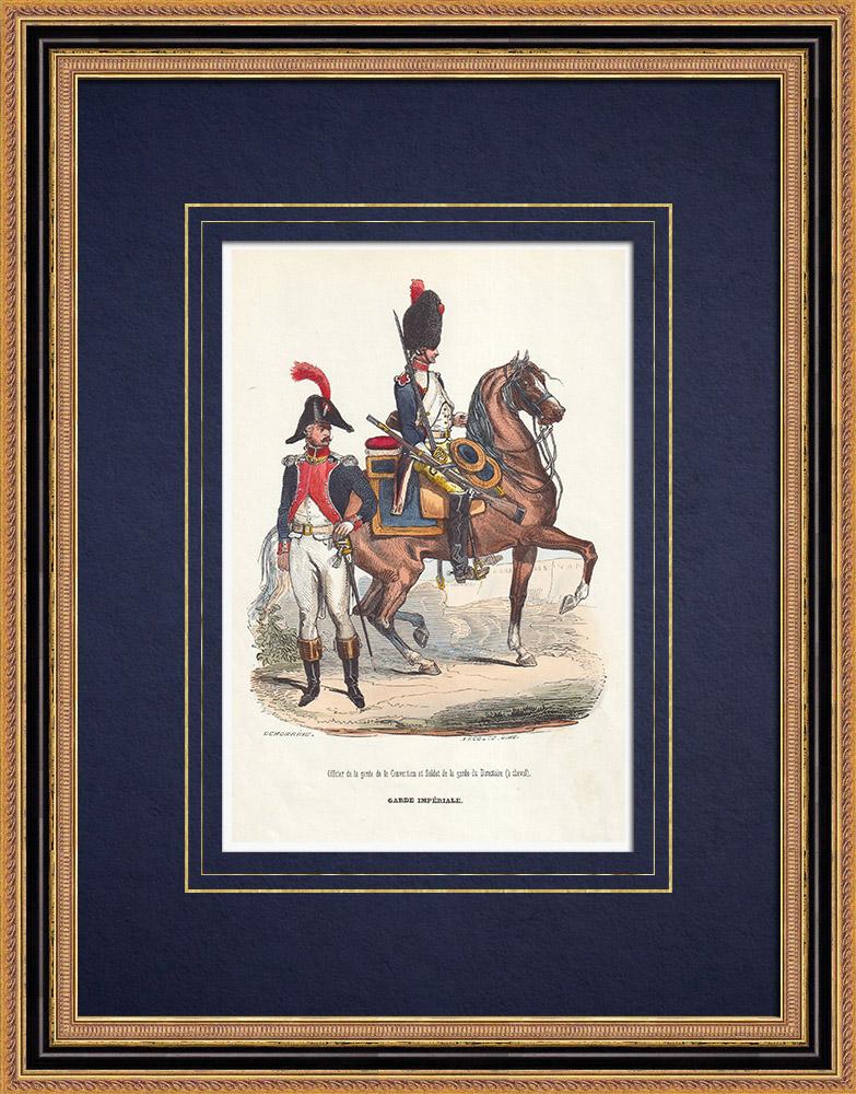Gravures Anciennes & Dessins   Garde de la Convention - Garde du Directoire - Cavalerie (1792-1799)   Gravure sur bois   1844