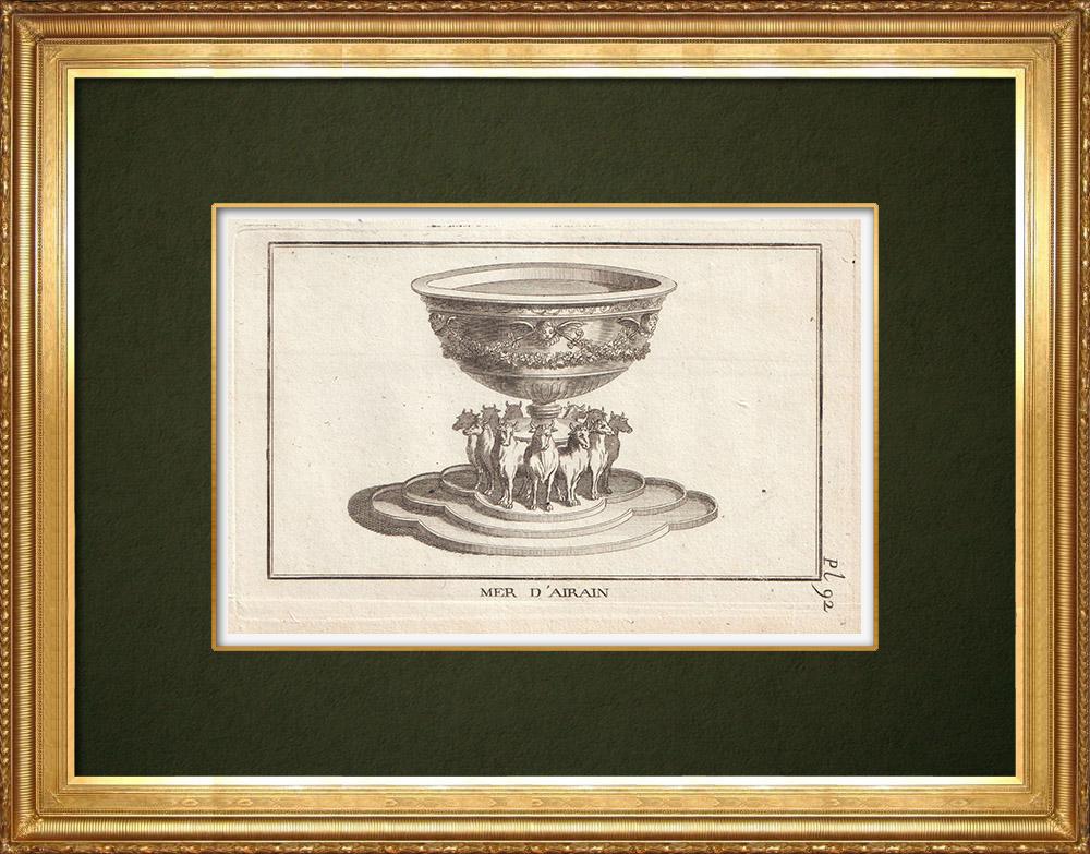 Gravures Anciennes & Dessins | Mer d'Airain | Gravure sur cuivre | 1773