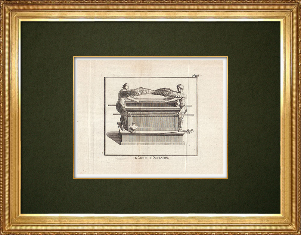 Antique Prints & Drawings | Ark of the Covenant | Copper engraving | 1773