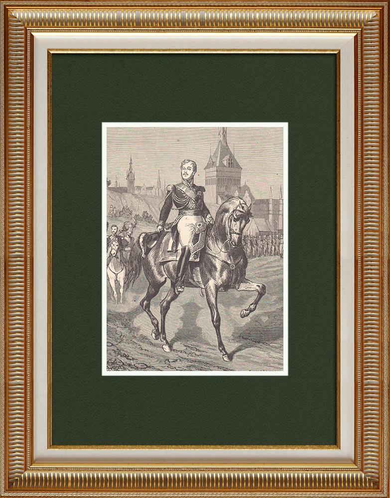Gravures Anciennes & Dessins   Portrait du général Jean Rapp (1771-1821)   Gravure sur bois   1870