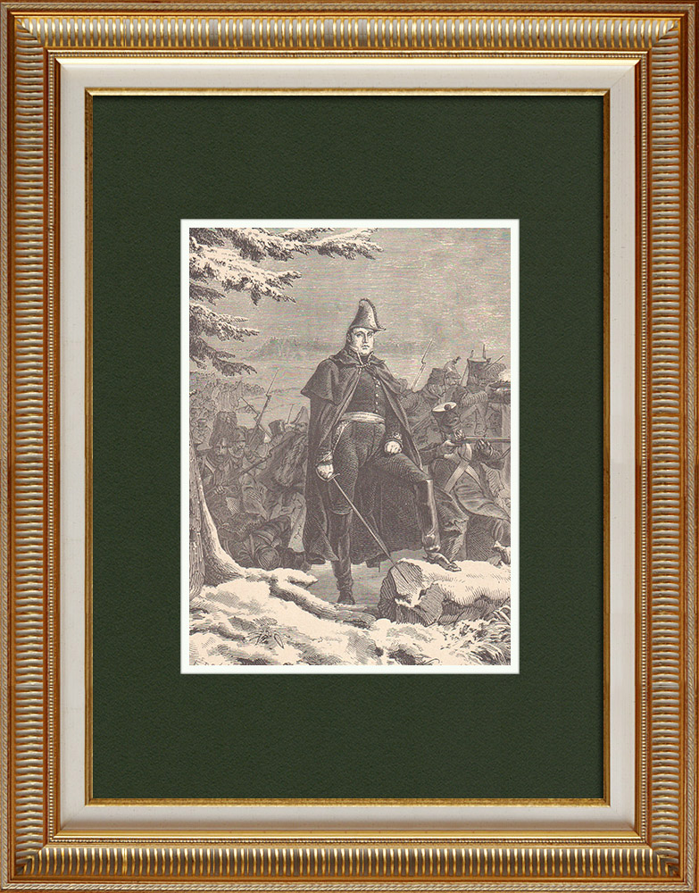 Antique Prints & Drawings | Portrait of Étienne Maurice Gérard - Marshal of France (1773-1852) | Wood engraving | 1870