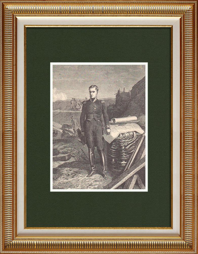 Gravures Anciennes & Dessins   Portrait de Lazare Carnot à la Défense d'Anvers (1814)   Gravure sur bois   1870