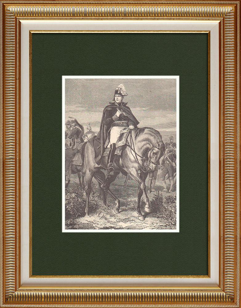 Antique Prints & Drawings | Portrait de Edouard Mortier - Marshal of the Empire (1768-1835) | Wood engraving | 1870