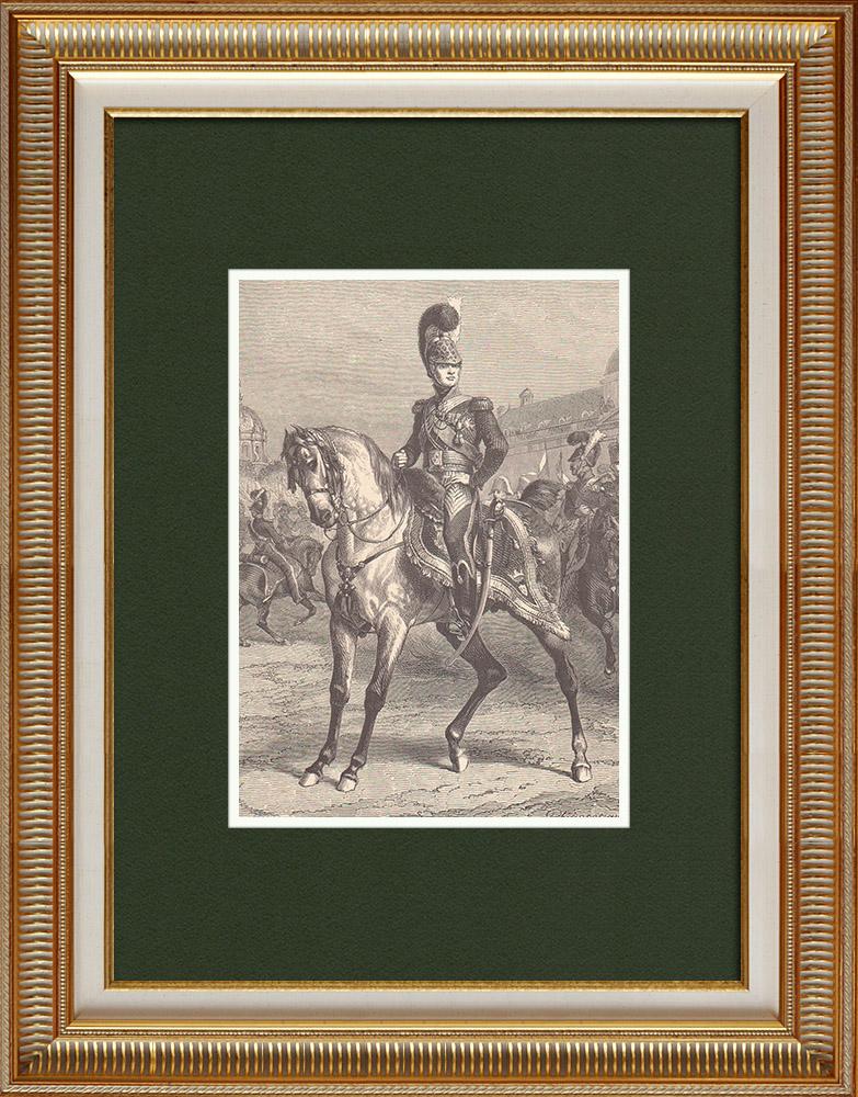 Gravures Anciennes & Dessins | Portrait de Charles-Ferdinand d'Artois, duc de Berry (1778-1820) | Gravure sur bois | 1870