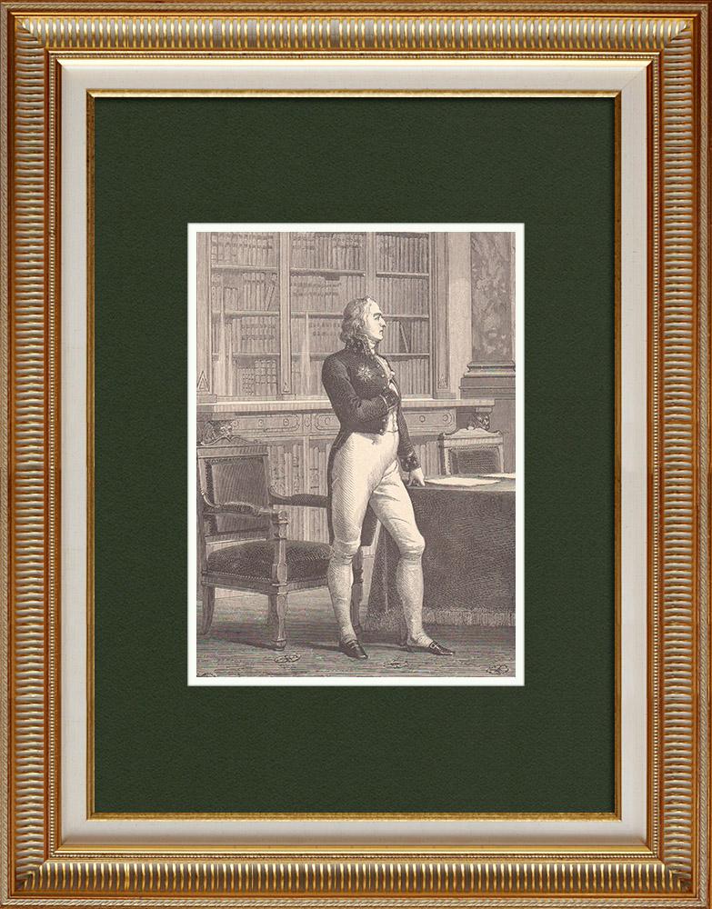 Gravures Anciennes & Dessins   Portrait de Boissy d'Anglas (1756–1828)   Gravure sur bois   1870
