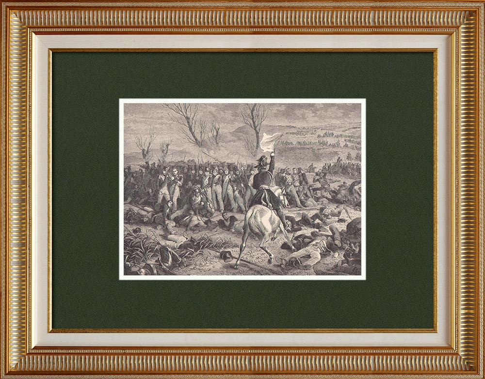 Gravures Anciennes & Dessins   Héroïsme des Gardes Nationaux - Campagne de France (1814)   Gravure sur bois   1870