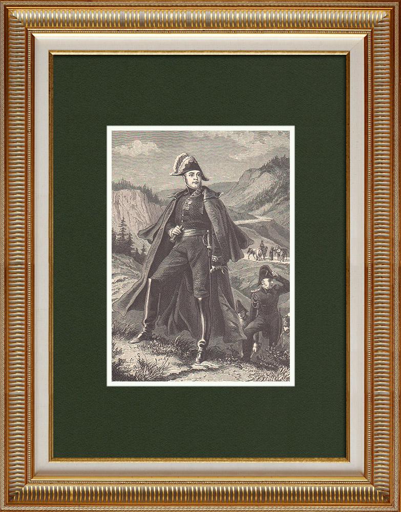 Gravures Anciennes & Dessins   Portrait de Claude-Jacques Lecourbe (1759-1815)   Gravure sur bois   1870