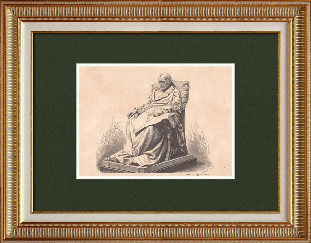 Antique Prints & Drawings | The Last Days of Napoleon I (1821) | Wood engraving | 1870