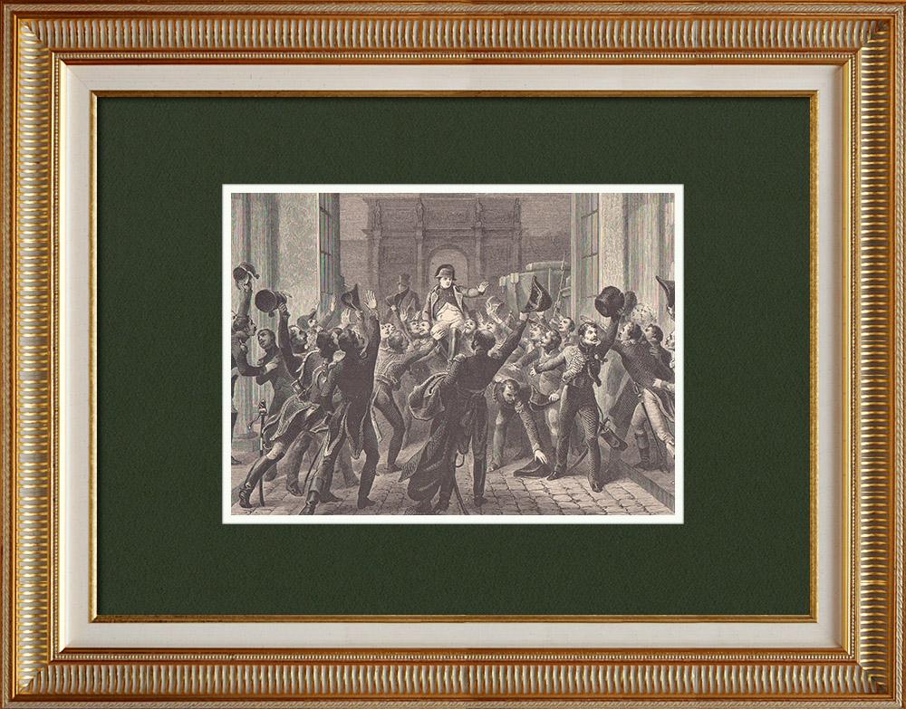 Gravures Anciennes & Dessins   Les Cents-Jours - Retour de Napoléon aux Tuileries (20 Mars 1815)   Gravure sur bois   1870